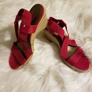 Bandolino wedge sandals, size 7